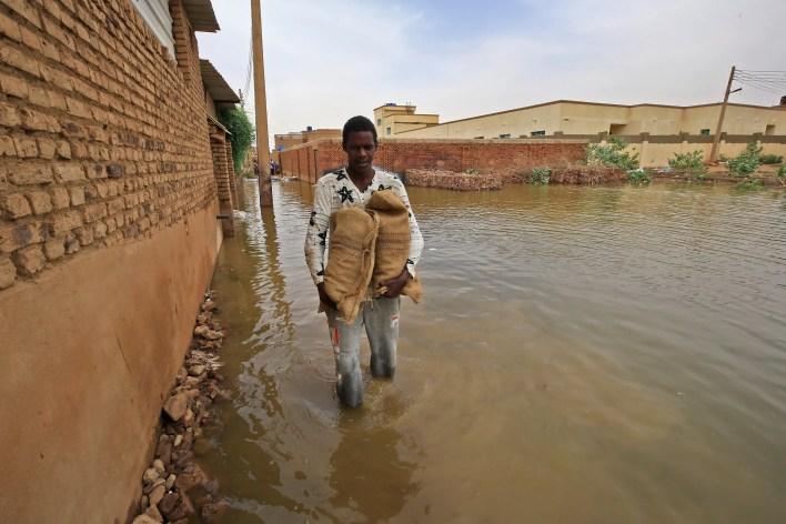 من فيضانات السودان(فرانس برس)