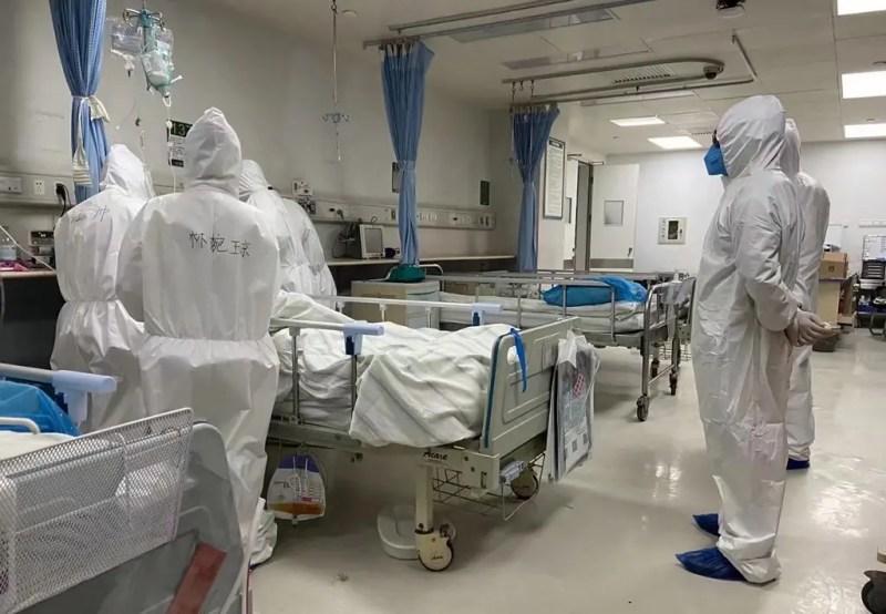 من أحد مستشفيات الصين - فرانس برس