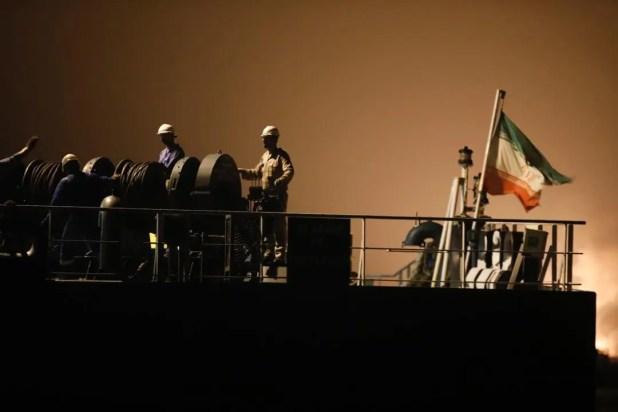 ناقلة نفط إيرانية في ميناء فنزويلي في مايو الماضي