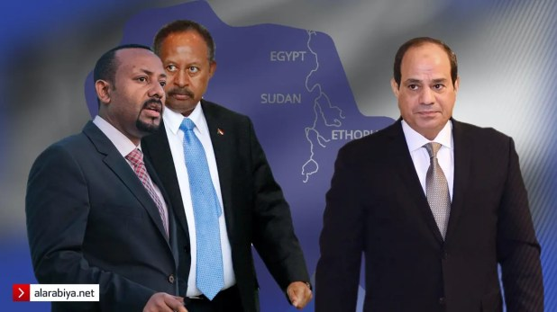 تعبيرية: الرئيس السيسي وحمدوك وأبي أحمد