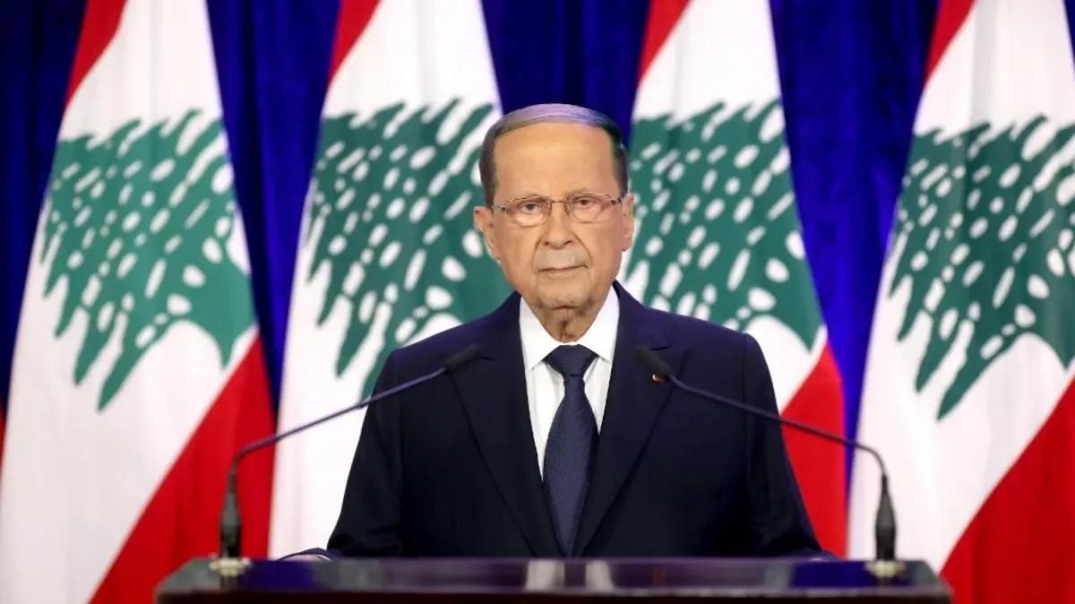 Lebanon's President Aoun says Israel's air strikes show 'aggression' escalation