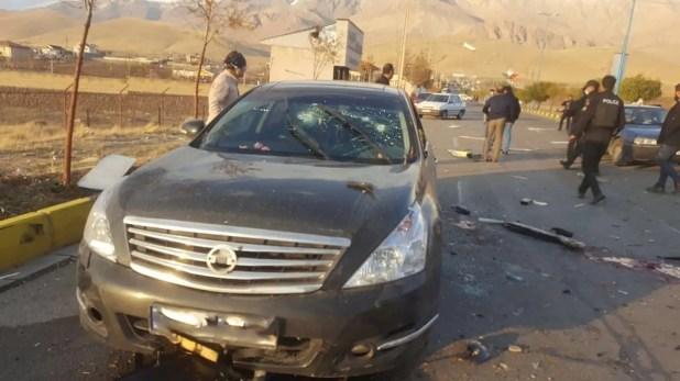 سيارة محسن فخري زاده  (رويترز)