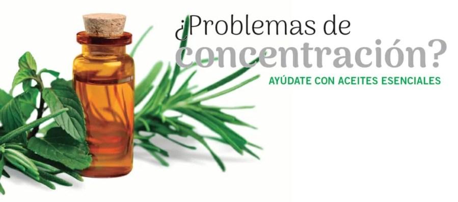 Aceites esenciales para los problemas de concentración