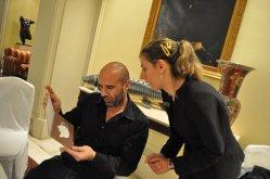Guillermo Lopez Hotel Palace checking teas carte