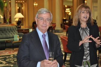 Rafael Anson in Westin Palace Madrid Caviar journals