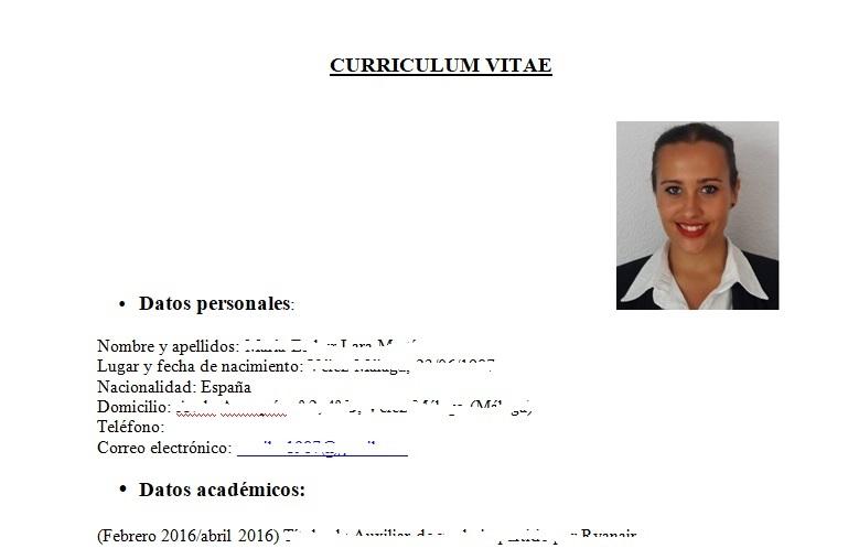 plantilla curriculum vitae tcp