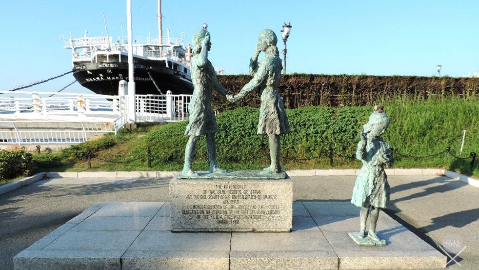 yokohama - yamashita park estatuas