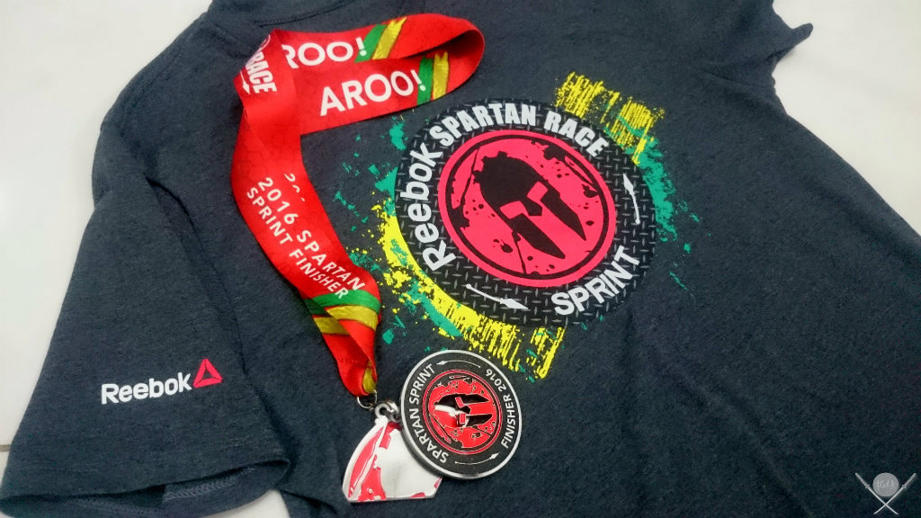 corrida spartan race - kit finisher
