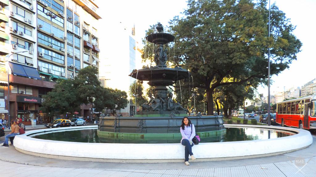 Buenos Aires - 9 de julio - Plaza provincia de santa cruz