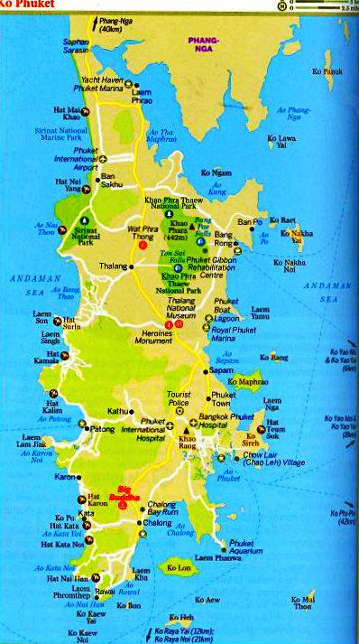 Thailand - Phuket - Mapa Phuket - Vida de Tsuge - VDT