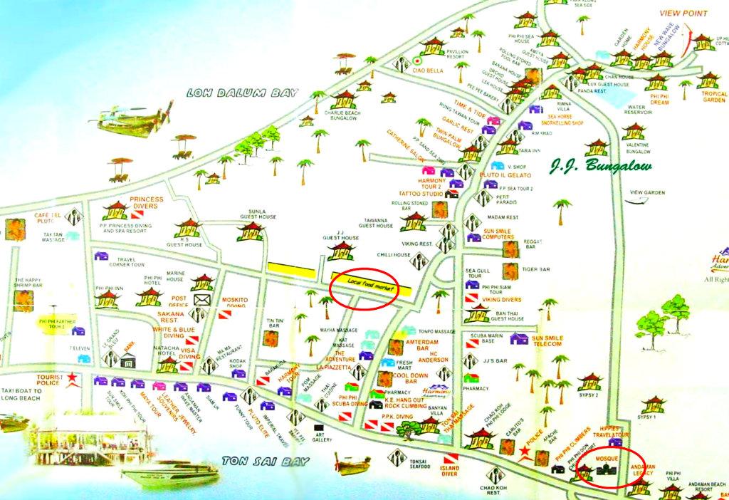 Thailand - Koh Phi Phi - Halal Mapa de Phi Phi - Vida de Tsuge - VDT