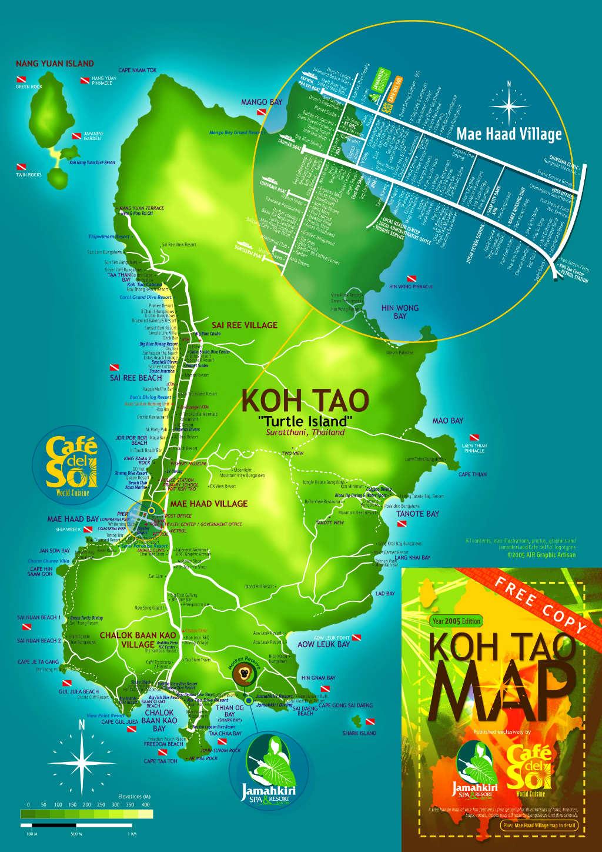 Thailand - Koh Tao - Koh Tao Mapa - Viagens - Vida de Tsuge - VDT