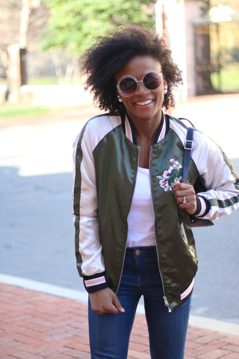 WTWW: Floral Bomber Jacket