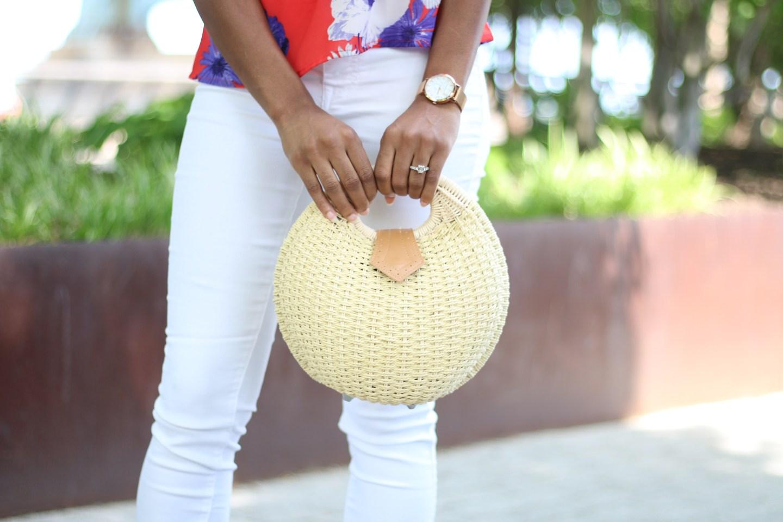 Straw Shell Bag