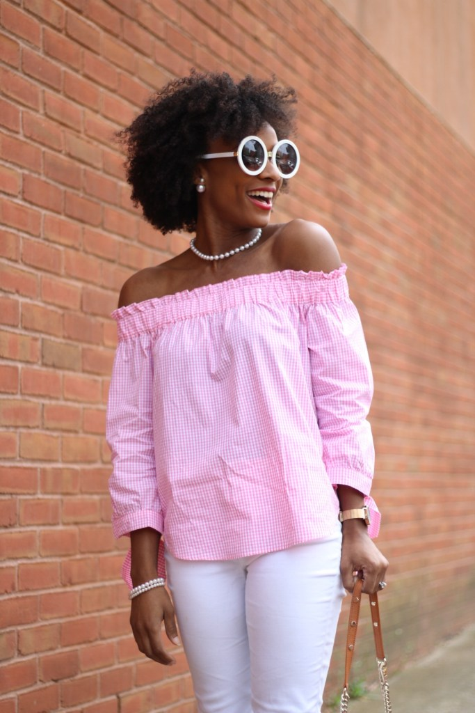 Pink Gingham OTS Top3