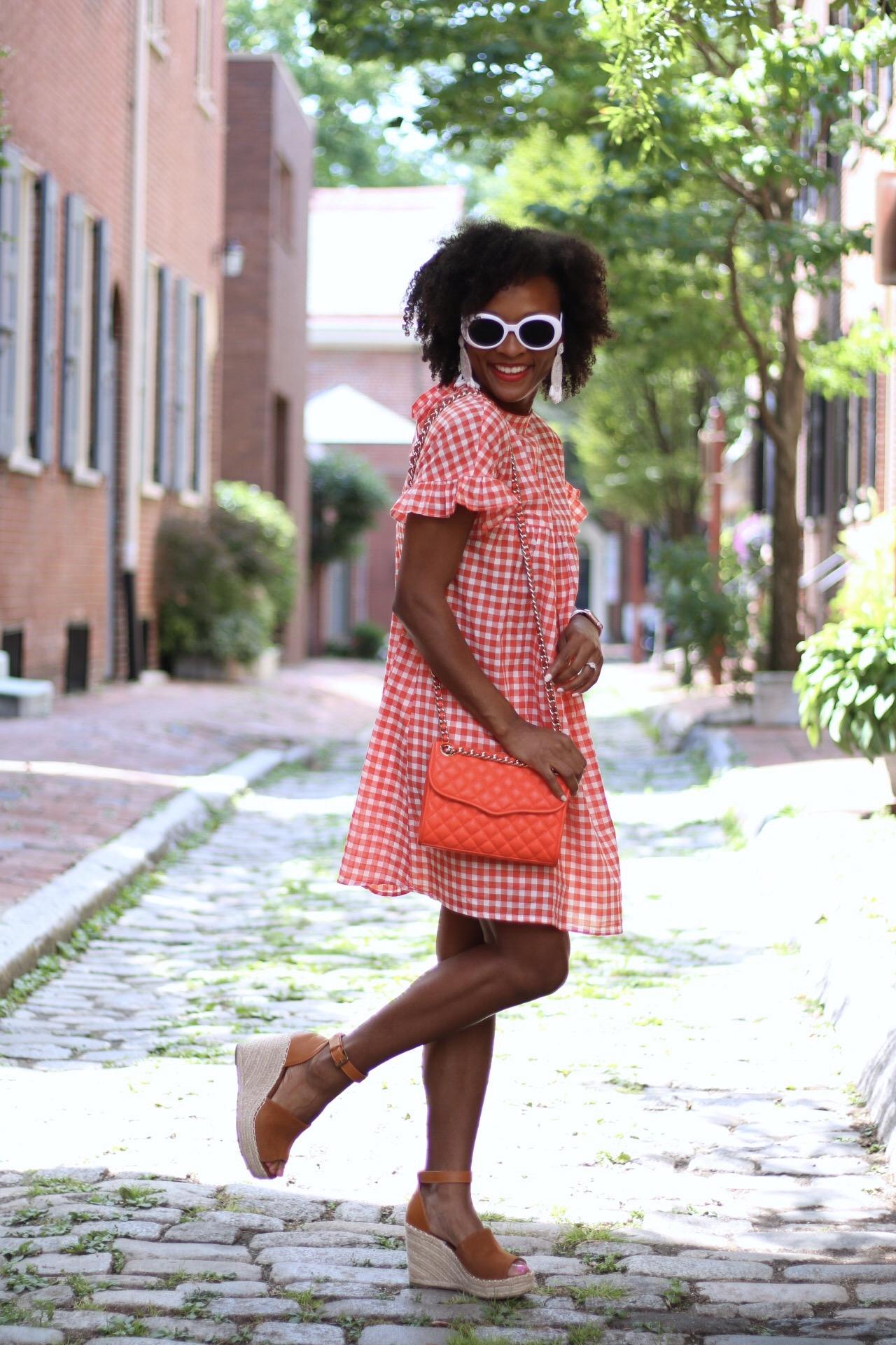Orange Gingham Dress