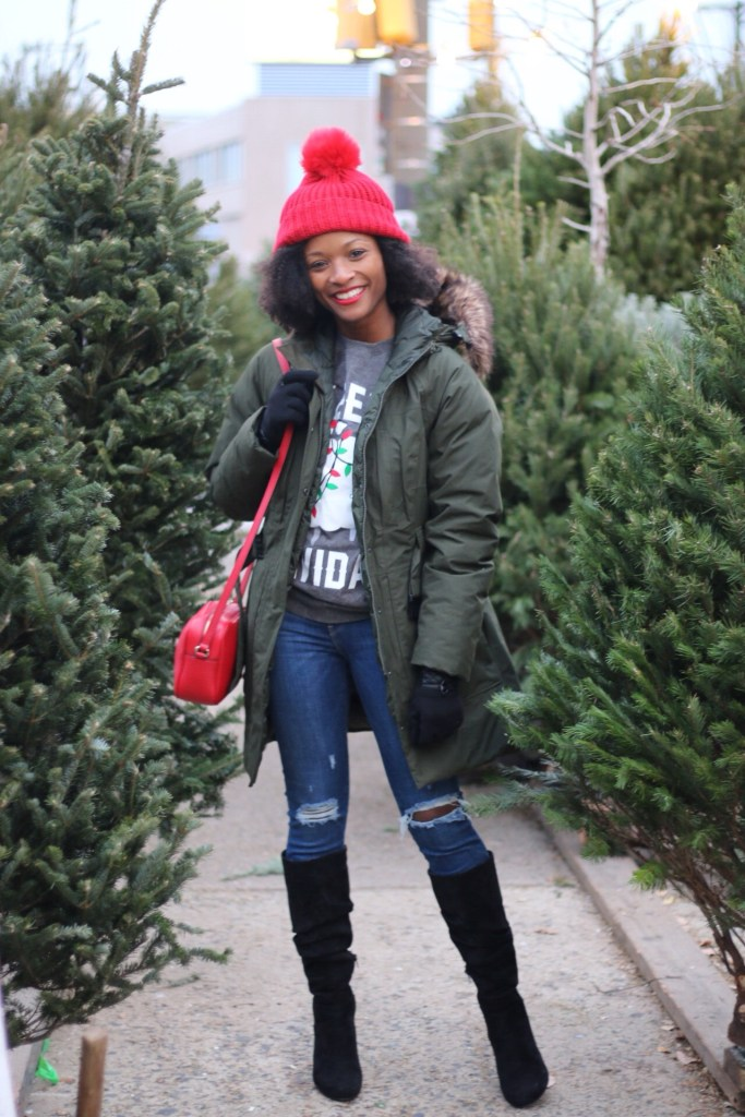 Christmas Tree Shopping Outfit1