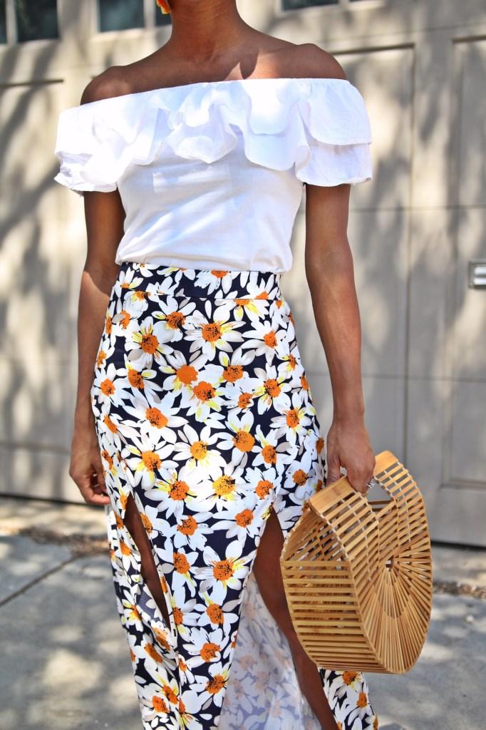 Daisy Print Skirt10