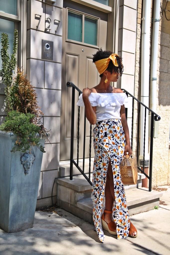 Daisy Print Skirt8