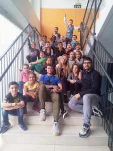 Foto de los alumnos con nuestros compañeros