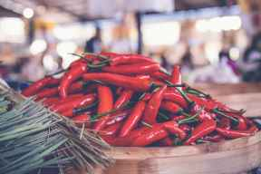 Chile usado en comida picante