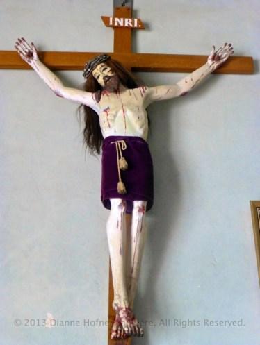 Crucifix in the sanctuary