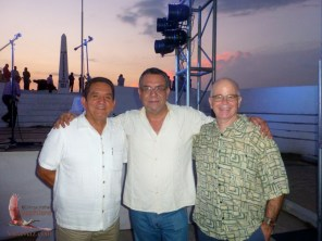 Former mayor Alejandro Camacho, Fernando Higuera, and Greg