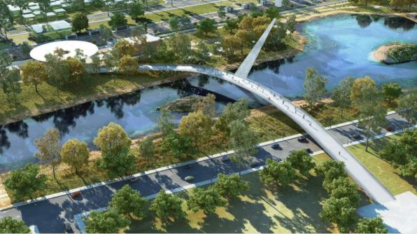 Architects' rendering of Mazatlán's new Central Park