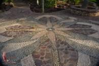 Beautiful mosaics on the walkways in the Botanic Garden