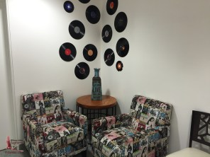 Cool furniture in the bathroom/lounge