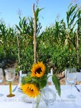 Sunflowers as table centerpieces