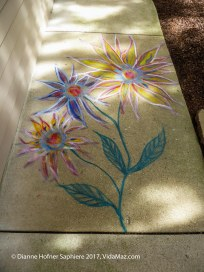 Carved and painted paving stones