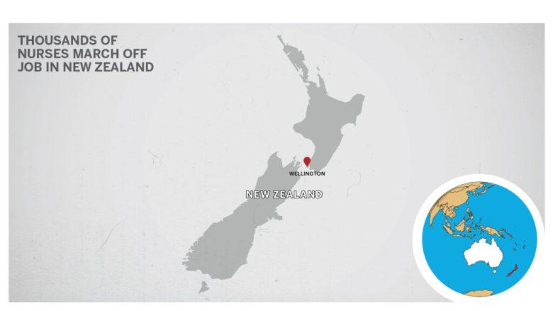 Map of Wellington, New Zealand.