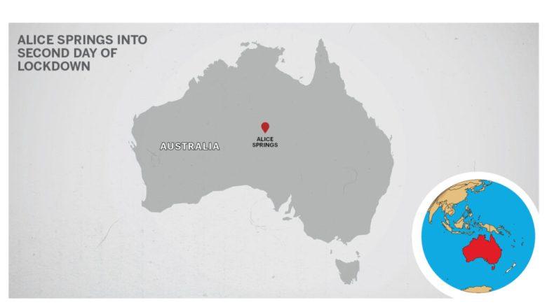 Map of Alice springs Australia