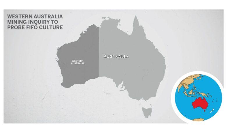 Map of Australia Western