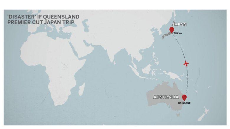 Map of Brisbane to Tokyo