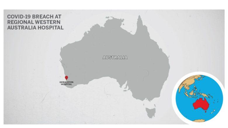 Map of Geraldton Hospital Perth Australia