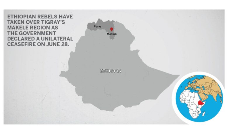 Map of Makele Tigray Ethiopia