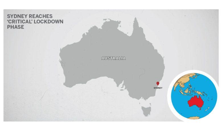 Map of Sydney Australia