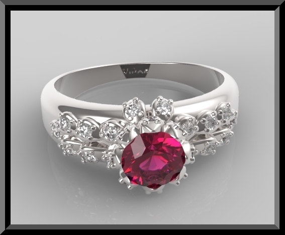 Ruby And Diamond Engagement Ring Vidar Jewelry Unique Custom Engagement And Wedding Rings