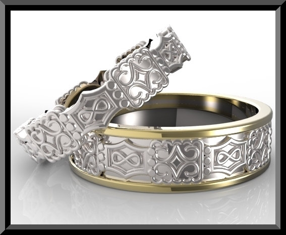 wedding ring set his and hers