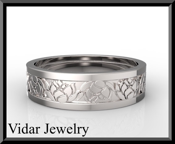 Custom Design Mens Wedding Band Vidar Jewelry Unique
