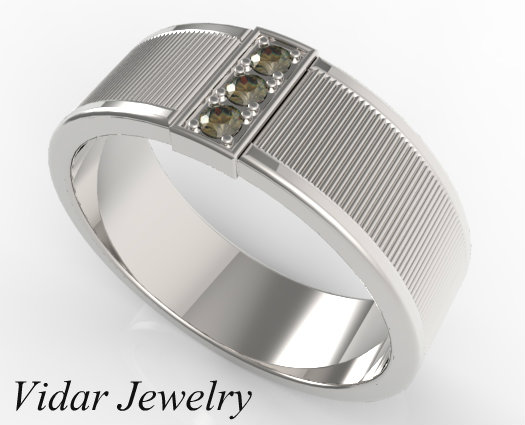 Mens Fancy Chocolate Brown Diamond Wedding Band Vidar