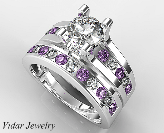 Unique Diamond Bridal Ring Set Vidar Jewelry Unique