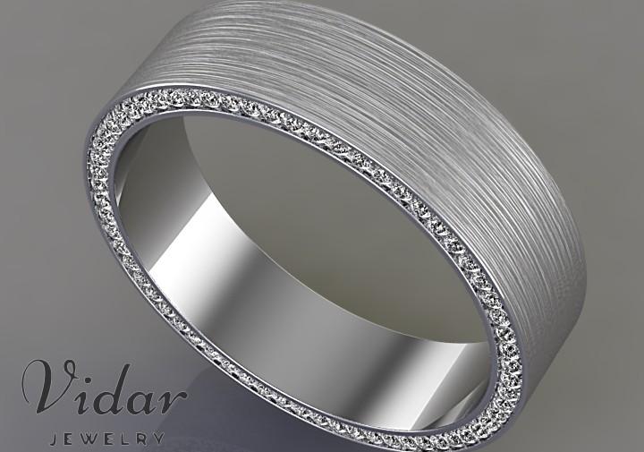 Comfort Fit Diamond Mens Wedding Band Vidar Jewelry Unique Custom Engagement And Wedding Rings