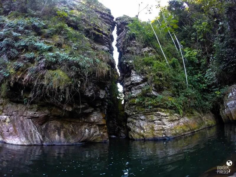 cachoeiras em Santa Rita de Jacutinga - MG: Boqueirão da Mira