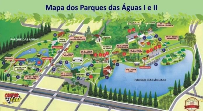 mapa parque das aguas de sao lourenço