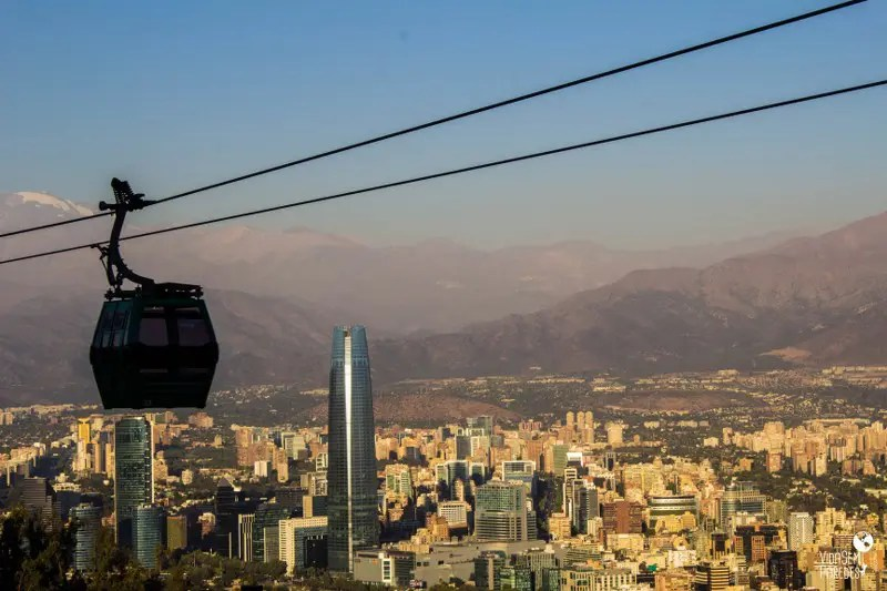 3 mirantes para ver a Cordilheira dos Andes em Santiago: Cerro San Cristóbal
