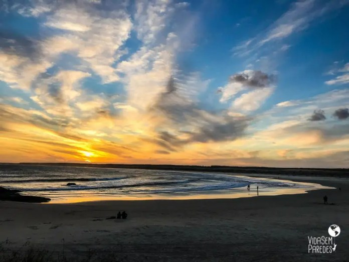 Por do sol na praia Sul Cabo Polonio