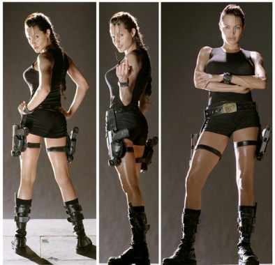 angelina jolie lara croft triple pic
